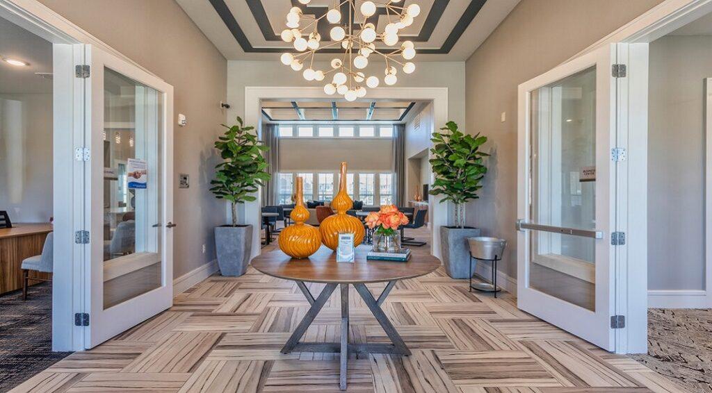 Lavon Apartments entry area