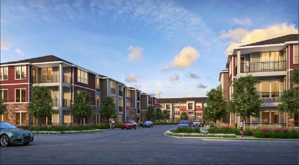 Artist's rendering of Limestone Apartments
