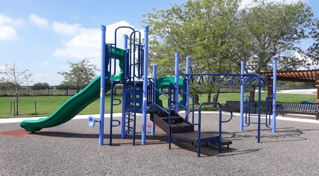 McKinney Apartments exterior playground view