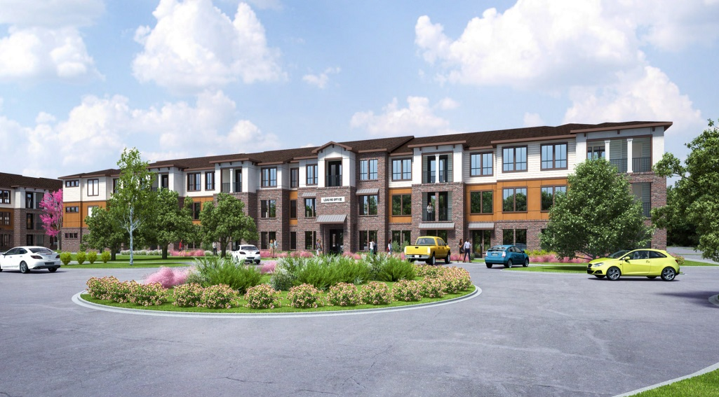 Artist's rendering of Richcrest Apartments